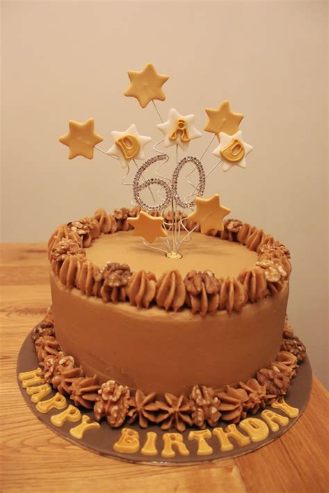 A birthday cake is a cake eaten as part of a birthday celebration. Coffee & Walnut 60th Birthday Cake | The Cake Escape