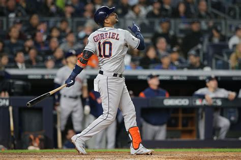 yuli gurriel smashes  run hr  open alcs game