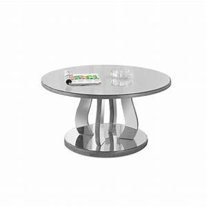mirrored coffee table in brushed silver i 3725 With brushed silver coffee table