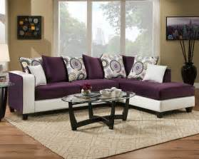 Modern 2 Tone Purple And White Sectional