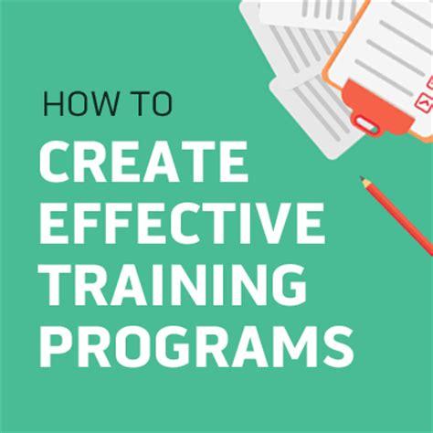 create  effective training program  steps