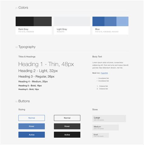 Style Guide Template Style Guide Driven Development With Atomic Docs Css Tricks