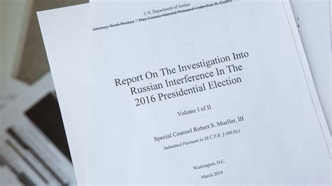 Mueller Investigation Report: Read NPR's Analysis And ...