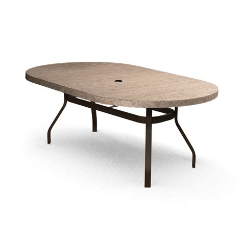 homecrest slate 44 quot x 84 quot oval dining table 374484dsl
