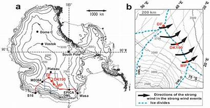 Map Antarctica Topographic Circles Solid Indicate Pit