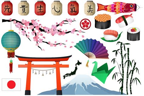 japanese asian clipart vector png illustrations