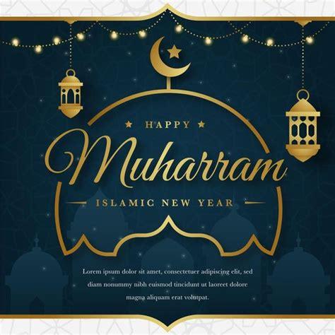 flat islamic  year concept