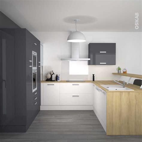 cuisine beige et gris cuisine gris et bois photo avec charmant cuisine gris et