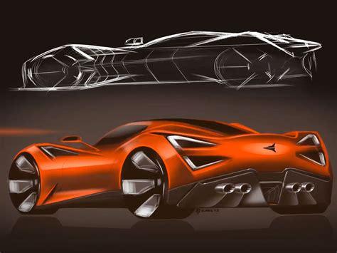 Icona Vulcano 2018 Supercar Sketches