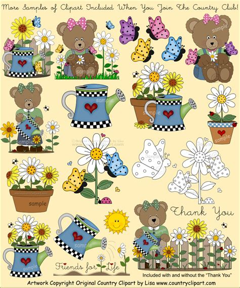 Country Clipart by Clipart For Digital Printables And Crafts The Country Club