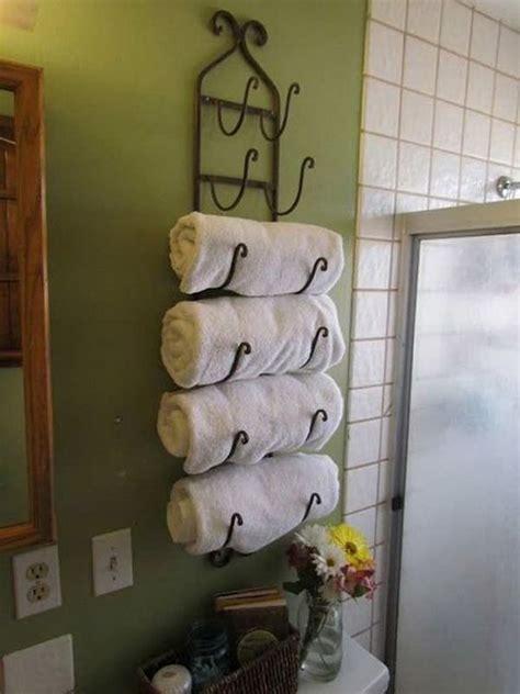 bathroom towel storage ideas    love
