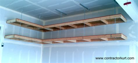 Hanging Drywall On Ceiling Tips by Overhead Garage Shelves Contractor Kurt
