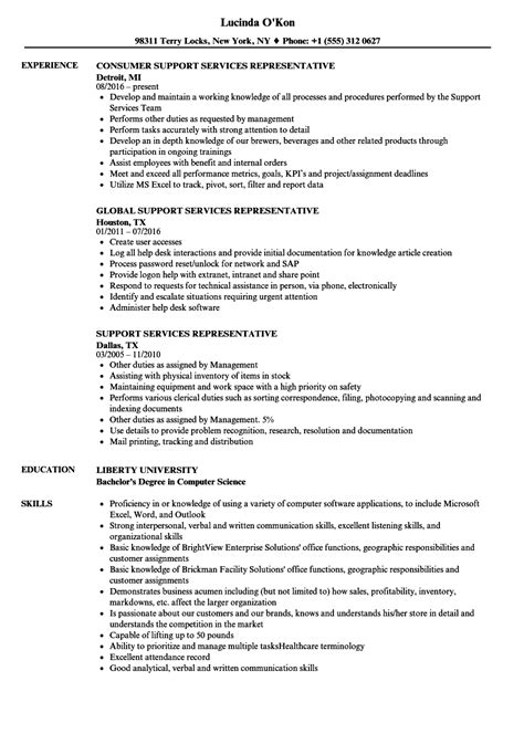 Technical Support Representative Resume by Support Services Representative Resume Sles Velvet