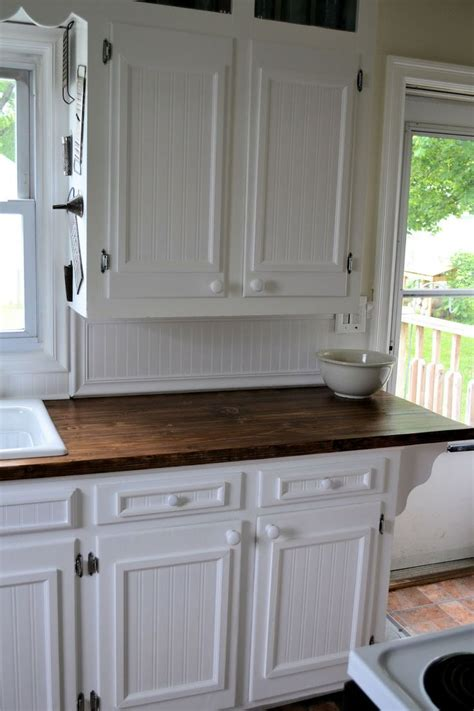 kitchens  stained wooden baseboards   chair