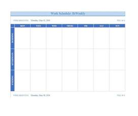 Microsoft Excel Weekly Schedule Template 12 Free Weekly Schedule Template Ms Word And Ms Excel Schedule Templates