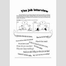 English Worksheets The Job Interview Indirect Questions