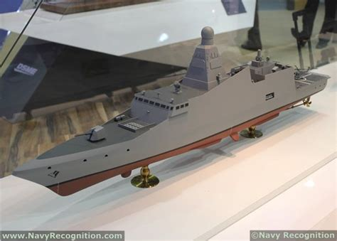dw 3000h frigate as displayed on dsme stand during
