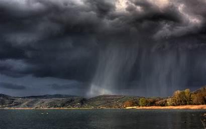 Rain Rainy Cloud Island Wallpapers Nature Storm