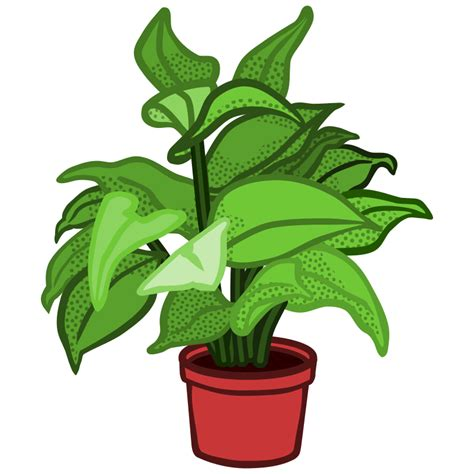 Plant Clip Clipart Potted Plant Coloured