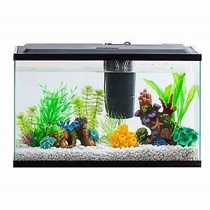Aquarium Set Led : 10 gallon aquarium kit set fish tank led light hood filter ~ Watch28wear.com Haus und Dekorationen