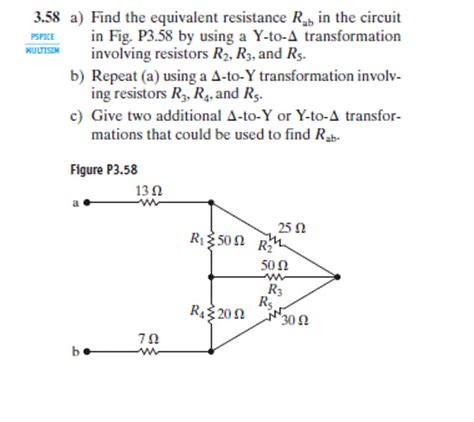 Solved Find The Equivalent Resistance Rab Circuit