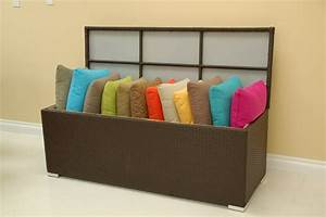 Patio furniture accessories outdoor pillow storage box for Pillow storage