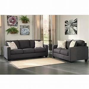 Rent Ashley QuotAlenya Charcoalquot Sofa And Loveseat