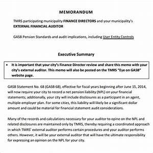 Executive Summary Format Template 10 Executive Memo Samples Sample Templates