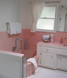 34 4x4 pink bathroom tile ideas and pictures for Interior design pink bathrooms