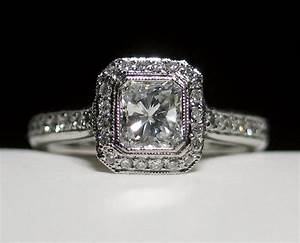 the gallery for gt radiant cut engagement rings With radiant cut diamond wedding rings
