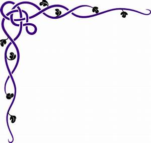 Purple Swirl Corner Border | www.pixshark.com - Images ...