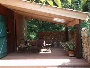 terrasse bois couverte With terrasse couverte en bois