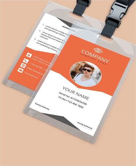 amazing id card templates   sample templates