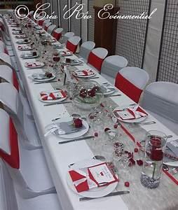 Décoration Mariage Rouge Et Blanc : mariage gris rouge ~ Melissatoandfro.com Idées de Décoration