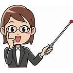 Teacher Clipart Instructor Female Clip Cartoon Professor