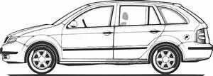 Car Compact Fabia Side View Clip Art At Clker Com