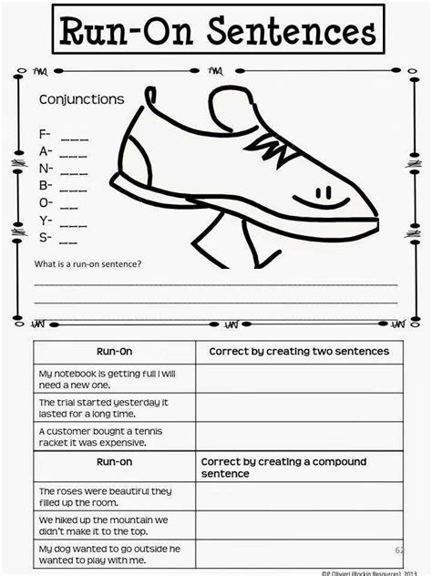 run on sentences worksheet homeschooldressage