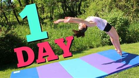 How To Get Your Back Handspring In One Day Youtube