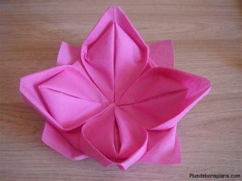 pliage de serviette fleur de lotus http www