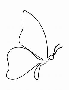 Simple Butterfly Drawing Side View