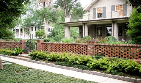 brick wall front yard crescent ave residence 2 traditional landscape other metro by the collins group jdp design