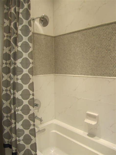 floors penny  tile  wall accent bathroom interir