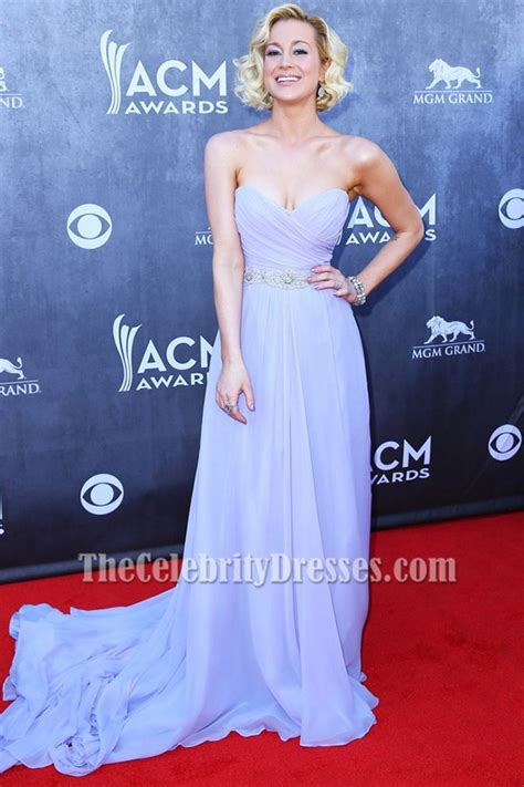 kellie pickler lavender prom dress  annual academy  country  awards thecelebritydresses