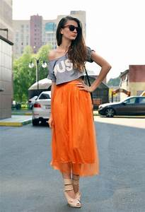 Fashionable Outfit Ideas in Orange - Pretty Designs