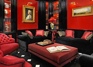 Red And Black Furniture For Living Room Ideas Home