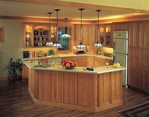 Low mini pendant lights over kitchen island for