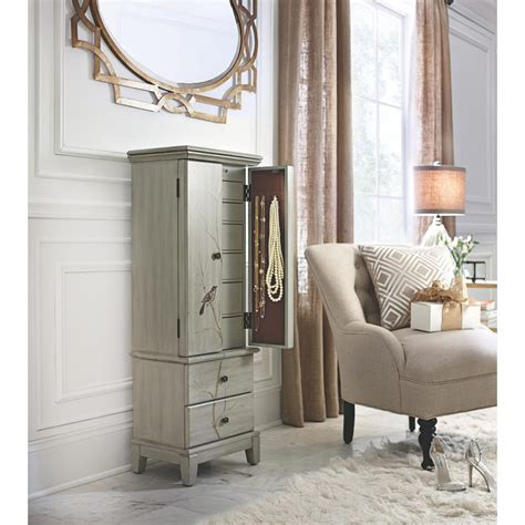 Jewelry Furniture Armoire by Home Decorators Collection Chirp Pewter Jewelry Armoire