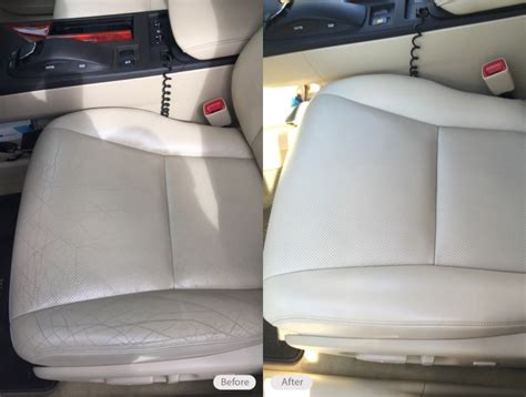 photo leather drivers seat cracking  discoloration