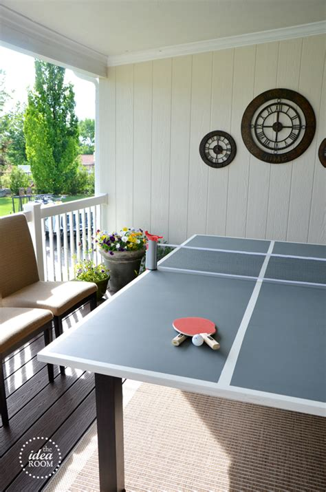 diy ping pong table  idea room