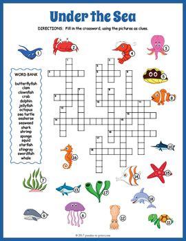 world oceans day activity   sea crossword puzzle